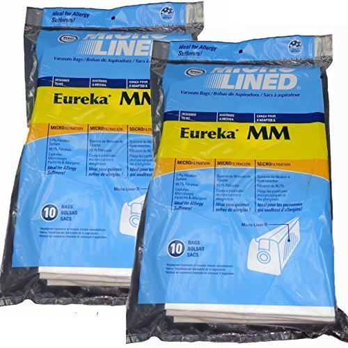 - Eureka MM Micro-lined Mighty Mite & Sanitaire Allergen Filtration Vacuum Cleaner Bags (20)