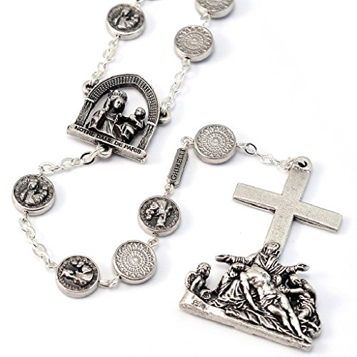 Ghirelli Notre Dame de Paris Cathedral Rosary in Antique Silver Plated Finish 19146