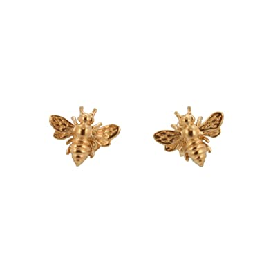 a7f19a793 Tiny Honey Bee Stud Earrings in 24k Gold Plated Sterling Silver for Adults  or Children, #6490: Zoe and Piper Jewelry: Amazon.co.uk: Jewellery