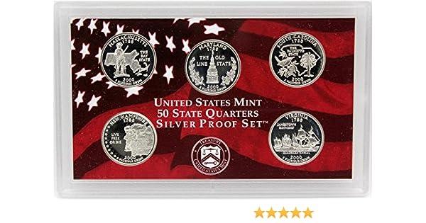 2000-S U.S MINT STATE QUARTERS PROOF SET...5 COINS...OGP /& COA