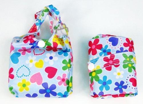 tapp Kollektionen trendige stabile Einkaufstasche Tasche–Farbe Blumen Herzen Muster