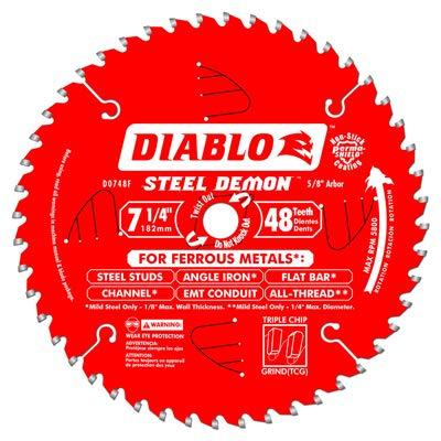 Freud D0748CFA Steel Demon Circular Saw Blade, 7-1/4-In. x 48T - Quantity 5 ()