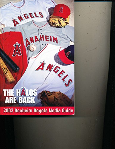 2002 Anaheim Angels MLB media press guide BBmg3