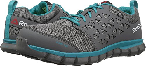 Reebok Women's Sublite Cushion RB045 Work Boot, Grey Turquoise, 9.5 M US by Reebok