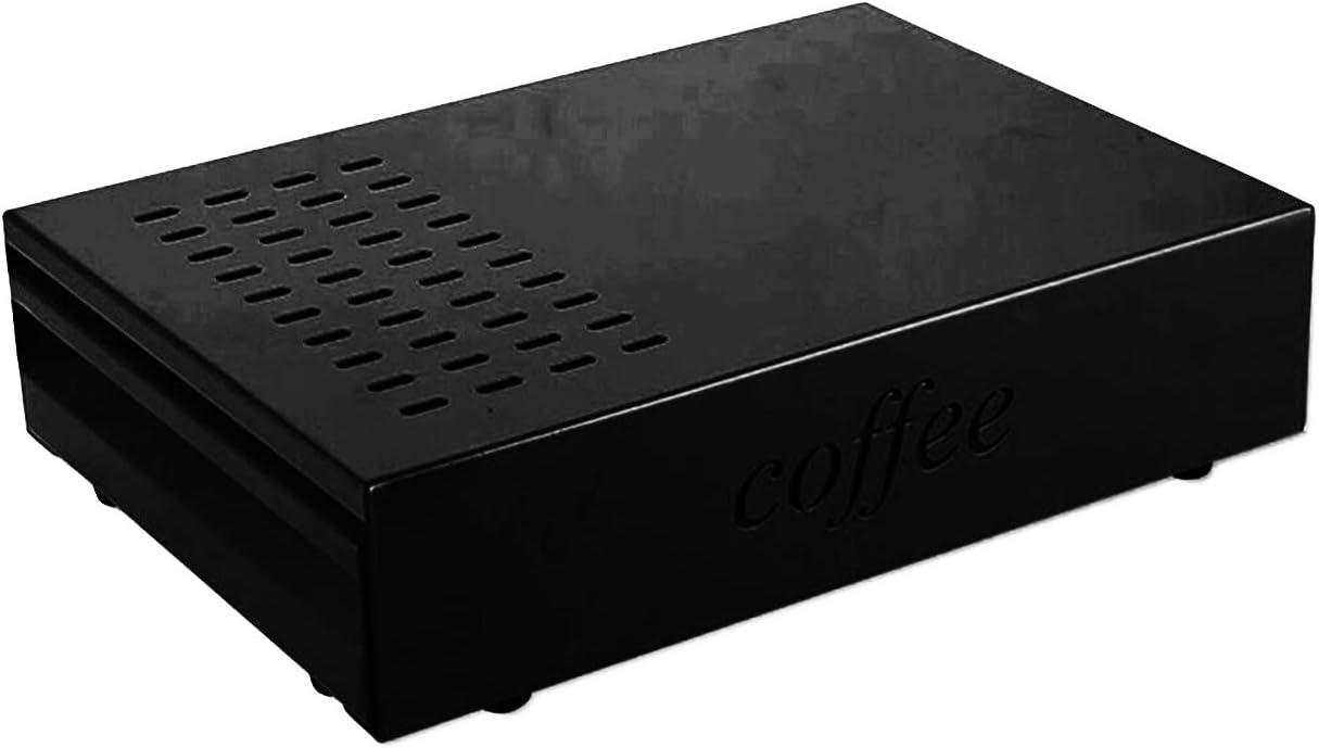 Coffee Knock Box Espresso Knocker Drawer (Black)