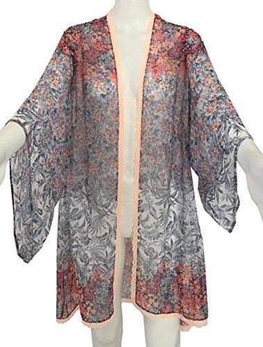 Victorias Secret Cover Up - Victorias Secret Kimono swimwear Cover-up Floral Top Size XS/S ...
