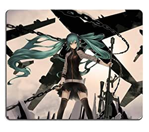 Vocaloid Hatsune Miku Sniper In Battle Field Anime Gaming Mouse Pad
