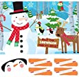 Pin the Nose on the Snowman Party Christmas Game