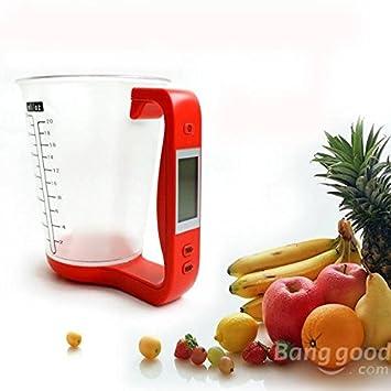mark8shop Jarra de taza medidora con báscula digital electrónica Báscula de cocina para hornear Herramientas: Amazon.es: Productos para mascotas