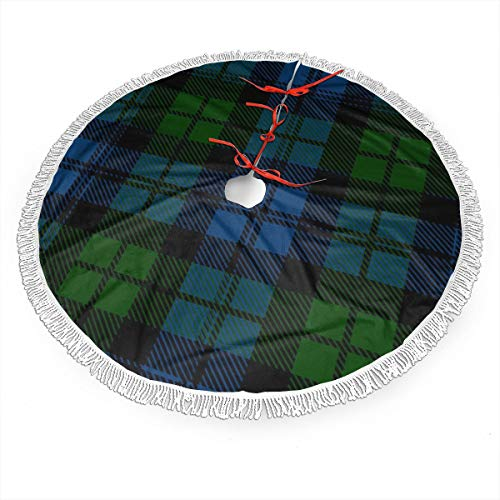 Scottish Christmas Snowman Tree Skirt - 2