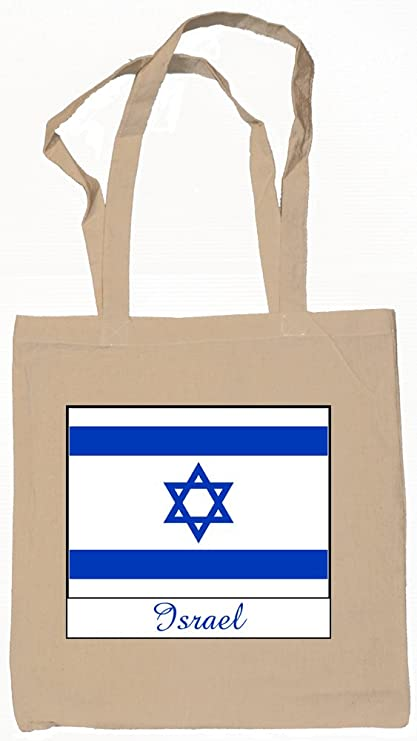 b831a7d77f Amazon.com: Souvenir Israel Tote Bag Natural 100% Cotton: garyoverton