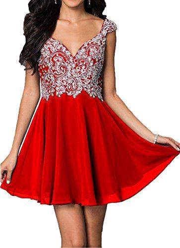 La Kleider Braut Rot Steine Cocktailkleider Sommer Tanzenkleider Jugendweihe mia Partykleider Mini Abendkleider Kurz rrqzgwx
