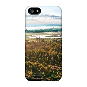 Case Cover Hot Air Balloon Taking Off In Foggy Morning Iphone 5/5s Protective Case