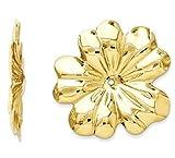 GLDQ001 14k Polished Floral Earring Jackets