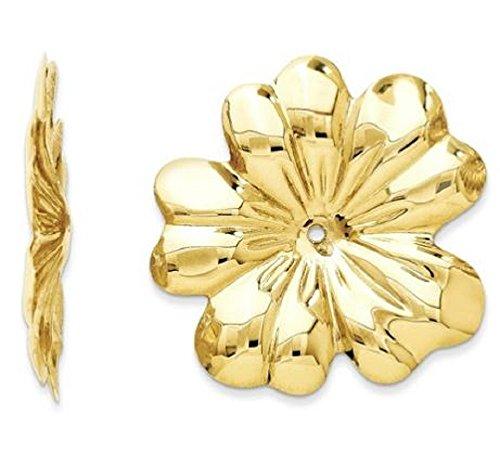 GLDQ001 14k Polished Floral Earring Jackets by GLDQ001