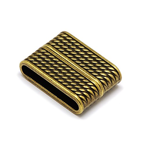 - Magnetic Clasp for Leather / Braids Rectangle 32x19x8mm (3 Sets) - Hole Size: 29mm x 5mm Antique Bronze