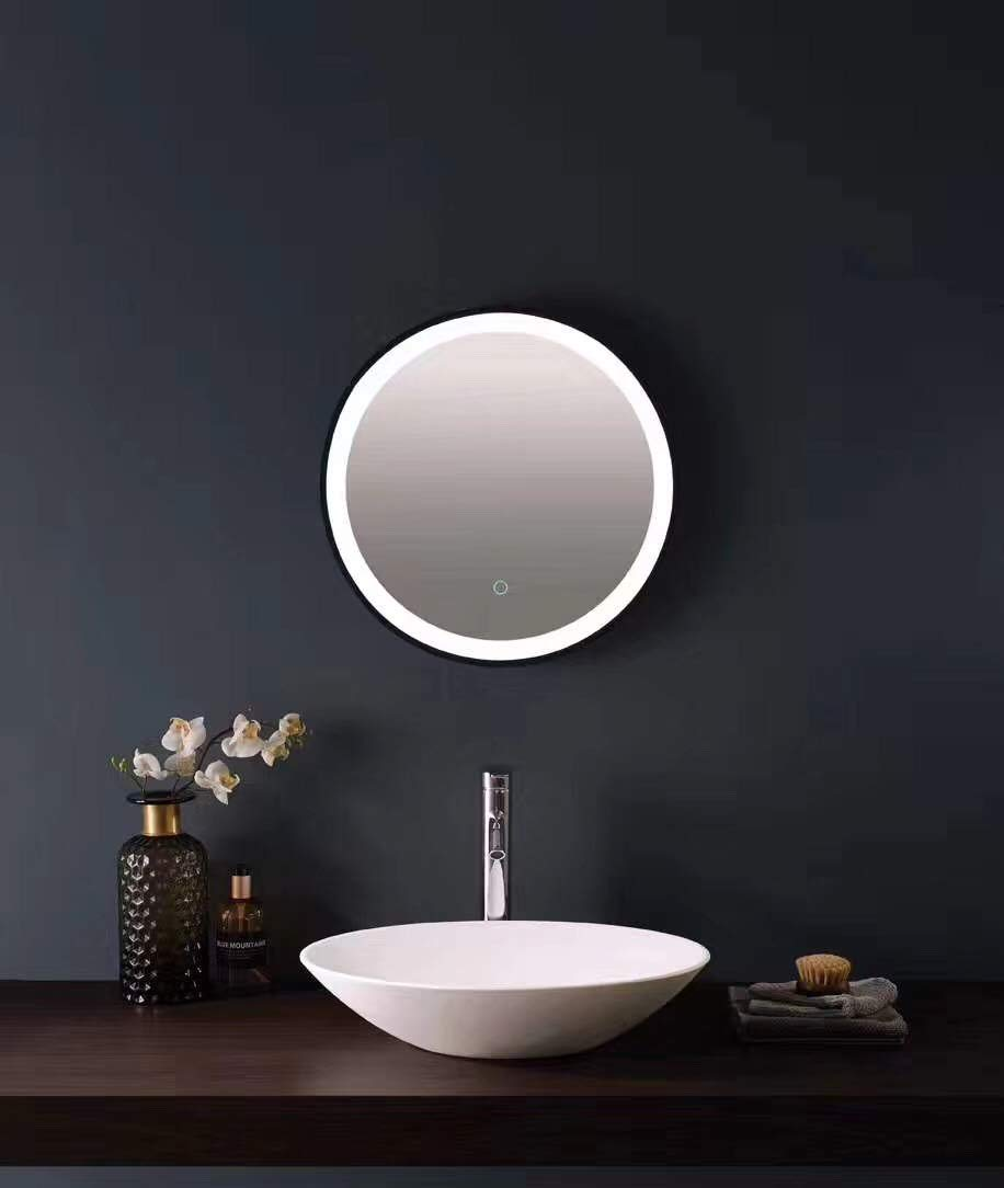 LED Backlit Illuminated Mirror 36''. Wall Mounted for Bathroom, Makeup. Hardwired and Easy to Install. Bright White Light 20w Behind Rectangular Inset Frosted Glass for Flattering Glow by Renewal