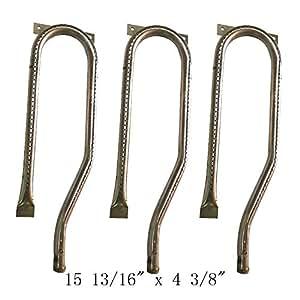 """zljoint (Pack de 4unidades) repuesto quemador de acero inoxidable para seleccionar Jenn-Air y modelos de parrilla de Gas Nexgrill (1513/16""""x 43/8"""")"""