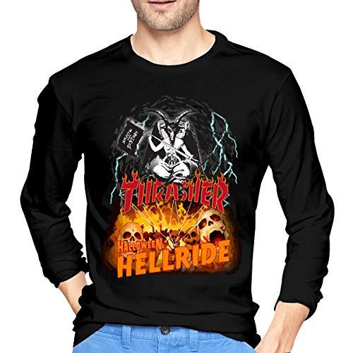 Diamond Thrasher Halloween Hellride Men Athletic Round Neck Cotton Long-Sleeve T-Shirt Top XXL