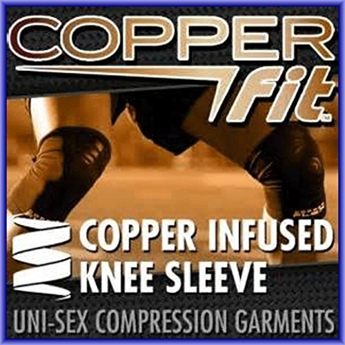 Copper Fit KNEE BRACE Compression Sleeve As Seen on TV Joint Pain Size Large by Copper Fit