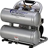 California Air Tools CAT-4610AC Ultra Quiet & Oil-Free 1.0 hp 4.6 gallon Aluminum Twin Tank Electric Portable Air Compressor, Silver by California Air Tools