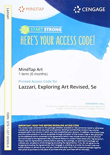 MindTap for Lazzari/Schlesier's Exploring Art: A Global, Thematic Approach, Revised, 1 term Printed Access Card -  Margaret Lazzari, Revised Edition, Printed Access Code
