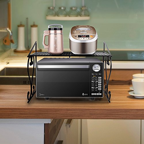 Kitchen Cabinet Storage Accessories (Microwave Oven Shelf, DoubleWin Dish Rack Kitchen Organizer Counter Cabinet Storage Racks)