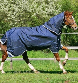 Horseware Rambo Duo Turnout Blanket 78 Navy by Rambo Blankets