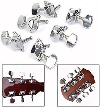OFKPO 6PCS Machine Head Clavijas de Afinación para Guitarra Color ...