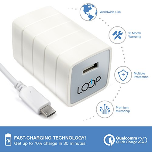 usb quick charge 2 0 wall travel wall charger by loop w free micro usb fast charging cable Samsung Galaxy Tab 7 Honeycomb Samsung Galaxy Legend Manual