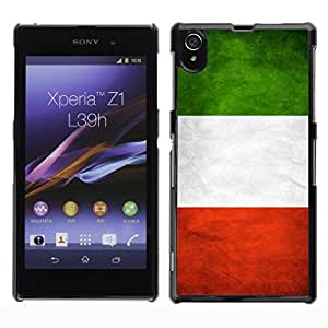 Shell-Star ( National Flag Series-Italy ) Snap On Hard Protective Case For SONY Xperia Z1 / L39H / C6902 / C6903 / C6906