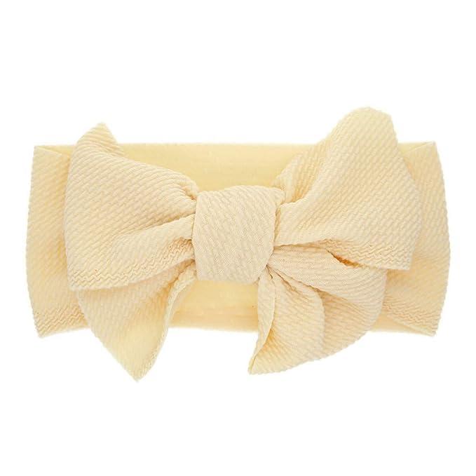 Girls Kids Baby Silk Cozy Hairband Headband Lovely Turban Knot Head Wraps Flower