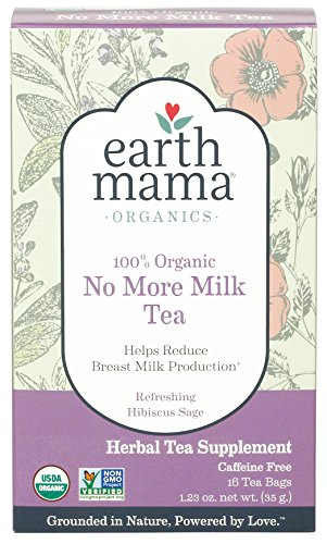 Earth Mama Organic No More Milk Tea Bags for Weaning to Help Reduce Breast Milk Production, 16-Count