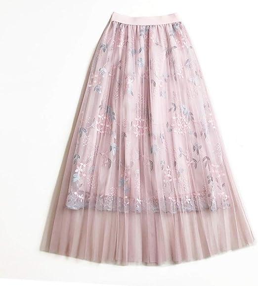Mebeauty Faldas de Mujer Las Mujeres con gradas en Capas de Malla ...