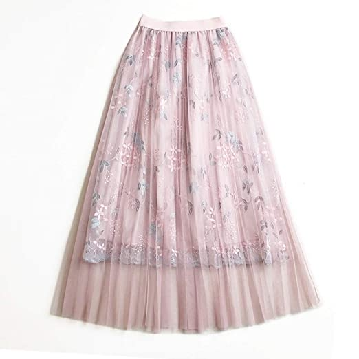 Falda Falda de malla bordada de flores bordada con flecos de baile ...