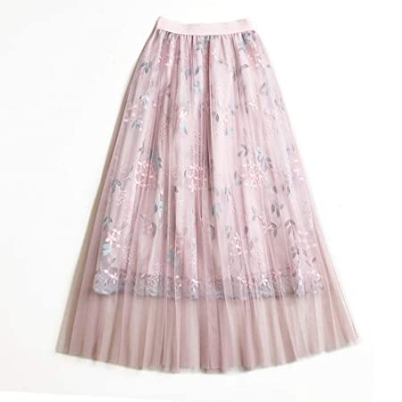 Zxllyntop-Dresses Falda Casual para Mujer Las Mujeres con gradas ...