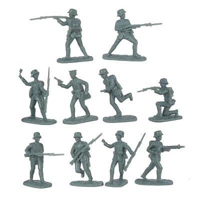 Armies in Plastic Germans in Stahlhelm Helmets (20) 1-32: Toys & Games