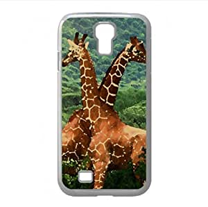 Giraffes, Africa Watercolor style Cover Samsung Galaxy S4 I9500 Case (Wild Watercolor style Cover Samsung Galaxy S4 I9500 Case)