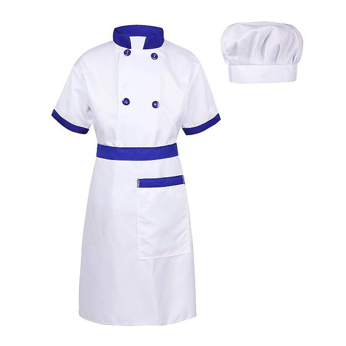 inlzdz Unisexo Disfraz de Cocinero para Niño Niña Traje Chef ...