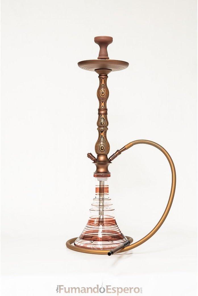 FumandoEspero Shisha - Cachimba de Madera Walden (80 cm) - Color: Bronce