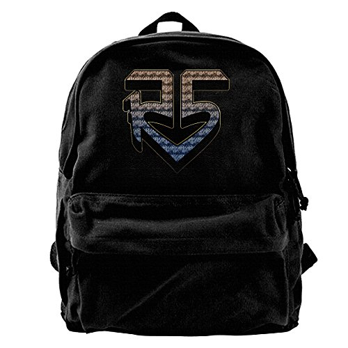 GeGe6 R5 Band Logo Unisex Canvas Backpack Laptop Rucksack