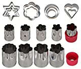 fruit shapes - Einfac Stainless Steel Vegetable Cutter Shapes Set (20pcs) Vegetable Fruit Cookie Cutter Mold - Cute for Fun Food