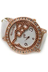 Hello Kitty Crystal Wrist Watch White By U-beauty
