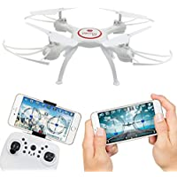 ZLOSKW X5UW FPV 2.4G 4CH 6-axis-gyro RC Quadcopter Drone With HD Wifi Camera, Altitude Hold, Real Time Video, 3D Rolling, 2 Control Modes