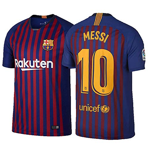 VF LSG Barcelona Lionel Messi 10# Men's 2018/19 Home Stadium Replica Player Blue Jersey (Blue, XL) (Jersey Messi Lionel Barcelona)