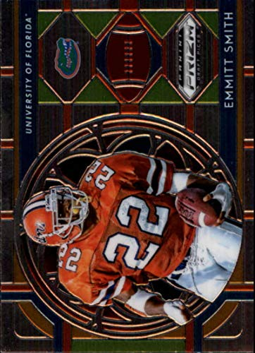 2019 Prizm Draft Picks Football #54 Emmitt Smith Stained Glass Florida Gators Official NCAA Trading Card From Panini