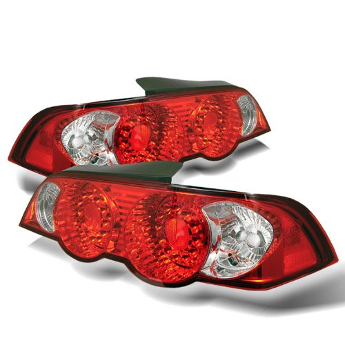 Redlines TL-ARSX02-LED-RC Red/Clear Medium LED Tail Light for Acura RSX '02-'04 and Lexus Altezza - (Arsx02 Led)