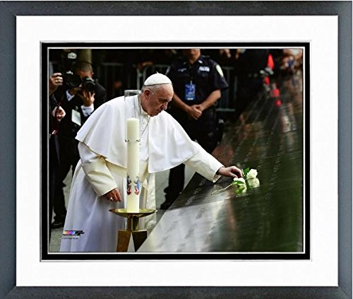Pope Francis Places Rose at the 9/11 Memorial Photo (Size: 12.5