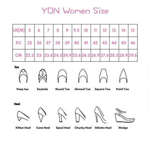 Ydn Donna Open Toe Sandali Con Tacco Largo E Impunture Slingback Slip On Slide Muli Shoes Nude