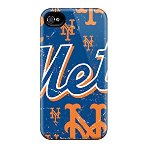 Shockproof Hard Phone Covers For Iphone 4/4s (tUy2285kxOI) Customized Beautiful New York Mets Pattern